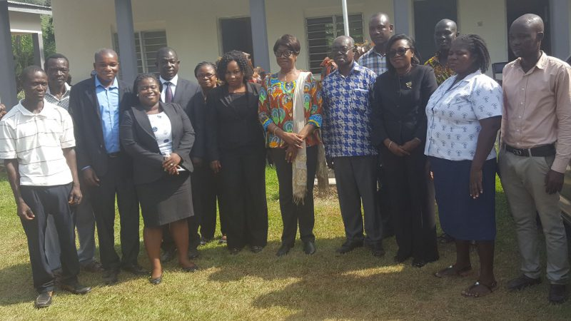 Visit By Her Ladyship To South Dayi District Assembly