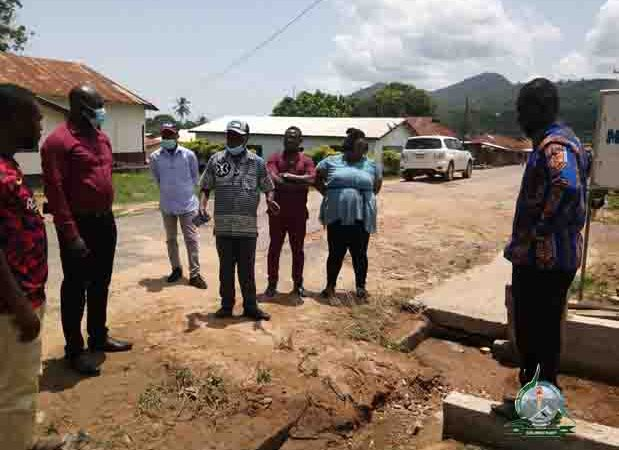 HON. MALLET INSPECTS ONGOING PROJECTS IN THE DISTRICT